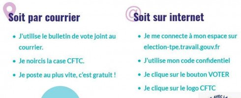 ELECTION TPE DU 22/03 AU 06/04 VOTONS LE SYNDICAT CFTC